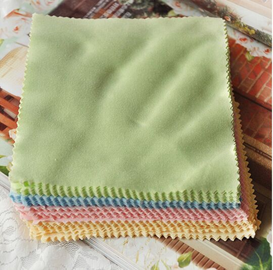 Micofiber eyeglasses cleaning cloth, colorful cotton glasses cloth,100pcs/lot, free shipping