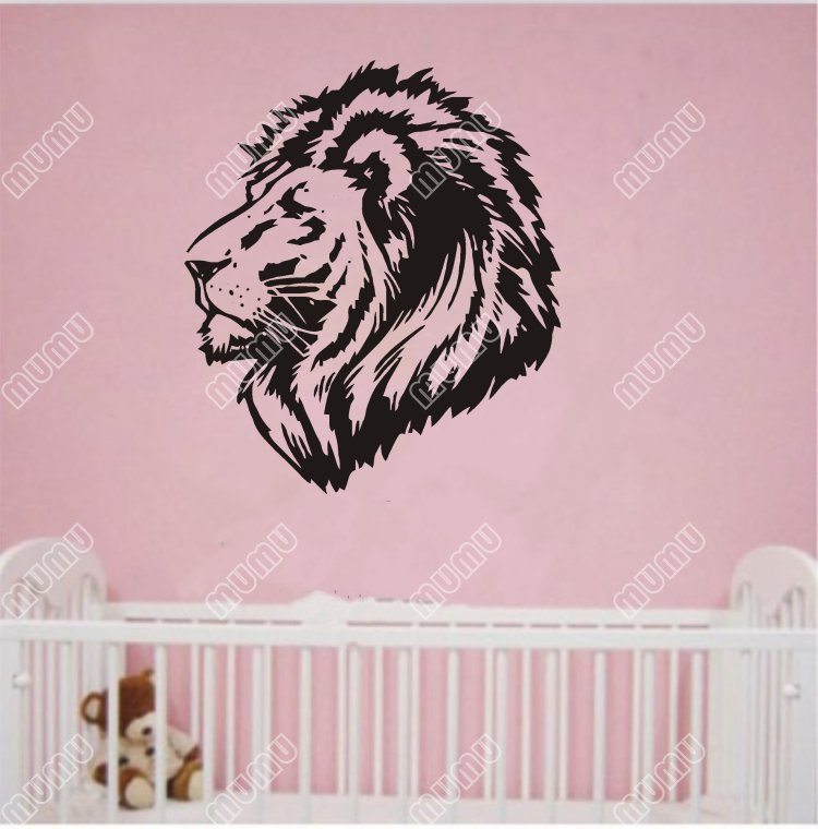 Lion home decoration animal sticker creative wall decals ZooYoo decorative adesivo de parede removable vinyl wall sticker WKA025(China (Mainland))