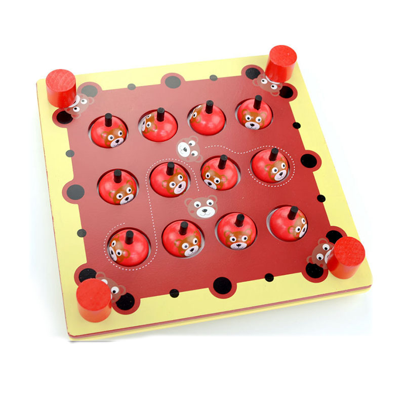 Wooden Memory Game Baby Brain Training Montessori Interactive Desk Toys Children Learning Educational Toys Kids Birthday Gifts(China (Mainland))