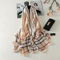 2016 New Design Luxury Brand Solid Real Pure Silk Summer Wrinkle plaid Scarf Women Elegant Shawl