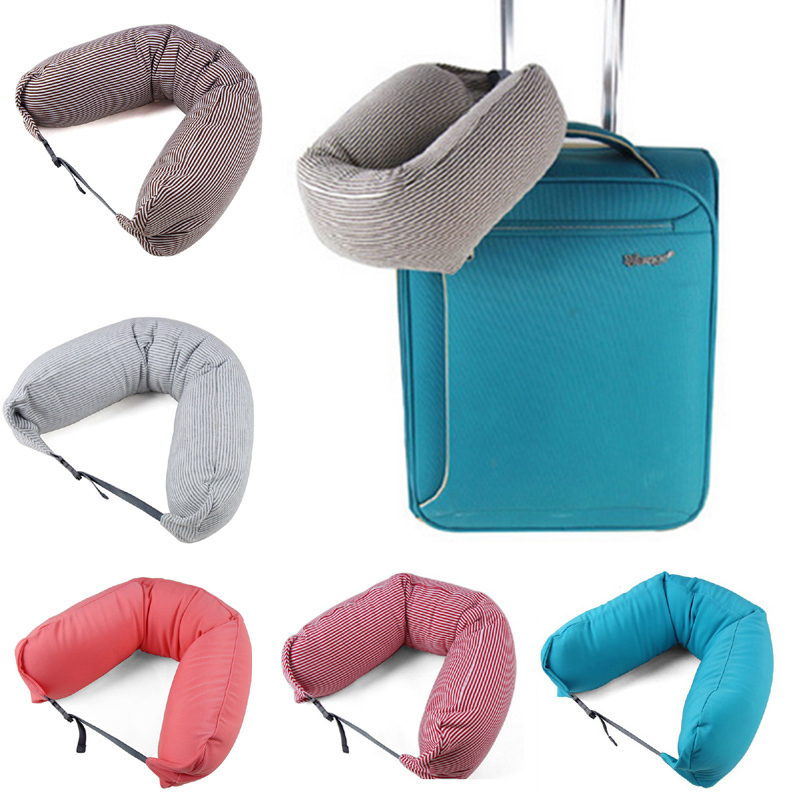 2015 New Janpan Style Hot Sale Traveling U Shaped Pillow with Buckle Neck Care Healthy Sleeping Supplies(China (Mainland))