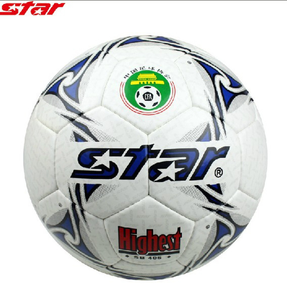 Star high quanlity size 5 PU football 2014 European Cup machine sewn soccer ball indoor wear and outer race(China (Mainland))