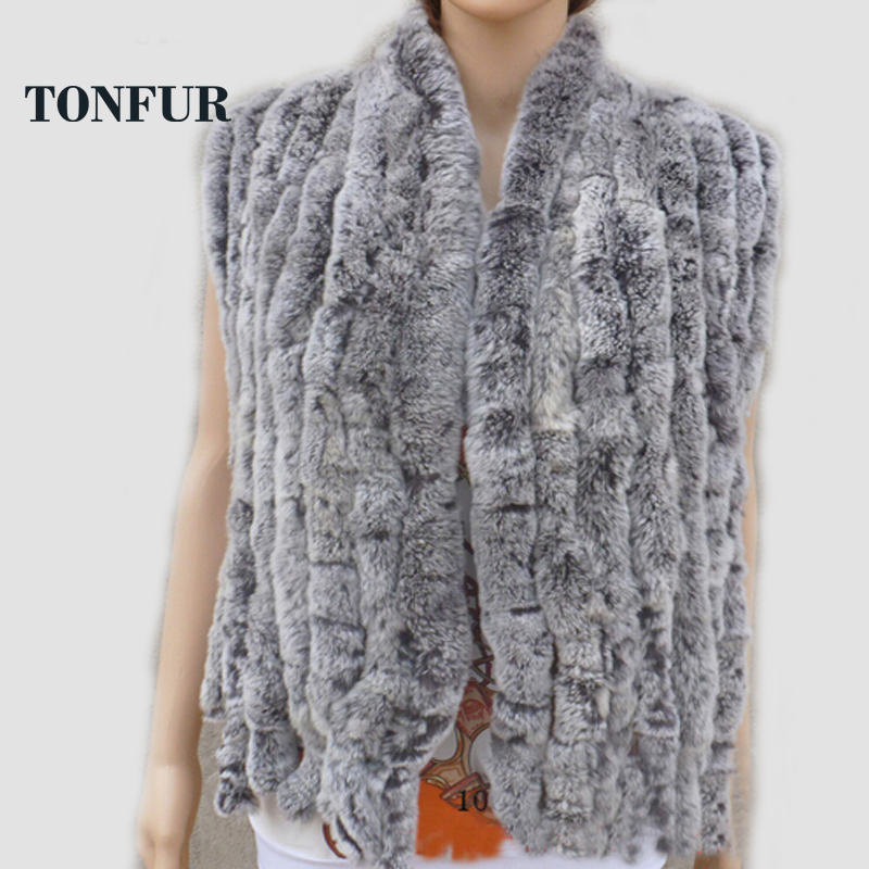 Real Knit Rex Rabbit Fur Scarf Women Winter Warm Natural pure fur shawl Free shipping FP574(China (Mainland))