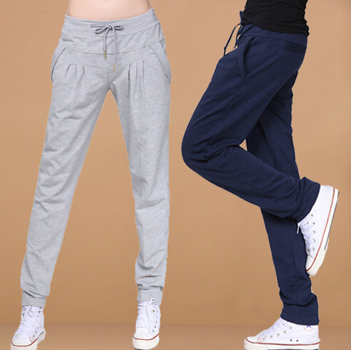 Hot Sale 2015 new Spring loose sport pants women casual harem long trousers high quality training Sweatpants XXL XXXL(China (Mainland))