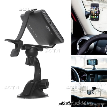 Free Shipping Multi-Direction Clip Style Car Mount Holder Stand for iPhone Mobile PDA GPS PSP XWJ-07HD