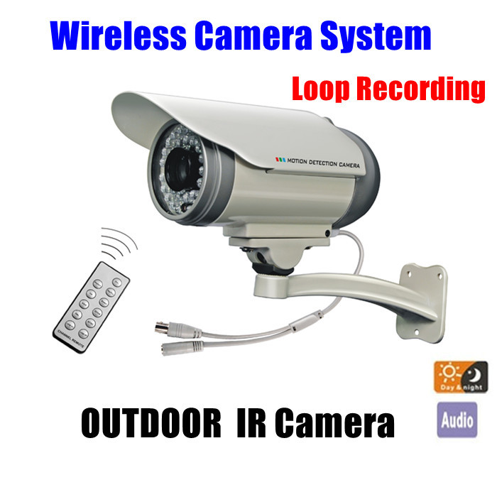 Loop Recording Wireless Video Audio ir outdoor waterproof nightvision Camera Remote Control  Home Security CCTV System Kit