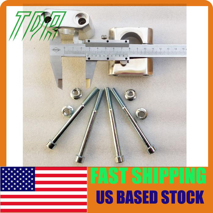 "STOCK IN USA 28mm Aluminum Handlebar Clamps Bar Riser Adapter 1 1/8"" Pit Dirt Bike Quad ATV(China (Mainland))"