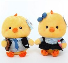 Genuine blue doll cute little yellow chicken doll clothes to wear fruit lovers birthday gift plush