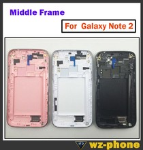 Original  Middle Bezel Frame Full Housing Case for Samsung Galaxy Note 2 N7100 N7102 N7105 Free Shipping(China (Mainland))