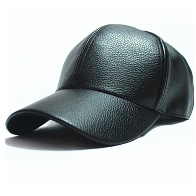 2014 winter PU Leather Baseball Cap Biker Trucker outdoor Sports snapback Hats For Men women hats and caps wholesale(China (Mainland))