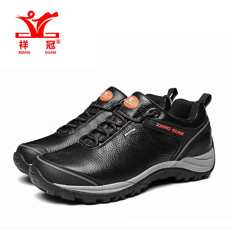 Xiangguan Brand wholesale Men Genuine leather Hiking shoes, mens Outdoor hiking shoes, Waterproof shoes sport shoes Cheap Sale<br><br>Aliexpress