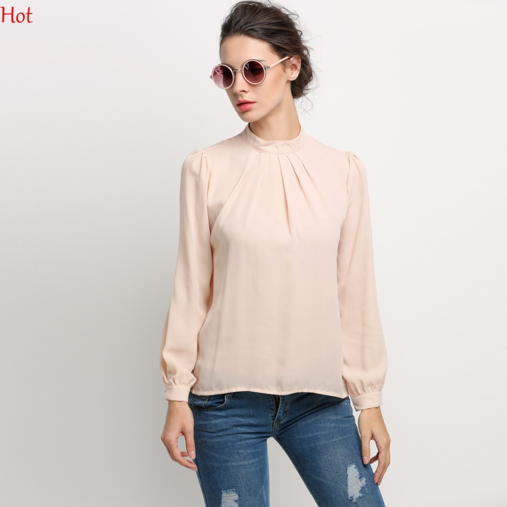 Womens blouses chiffon clothing spring ladies blouse shirt for Women s broadcloth shirts
