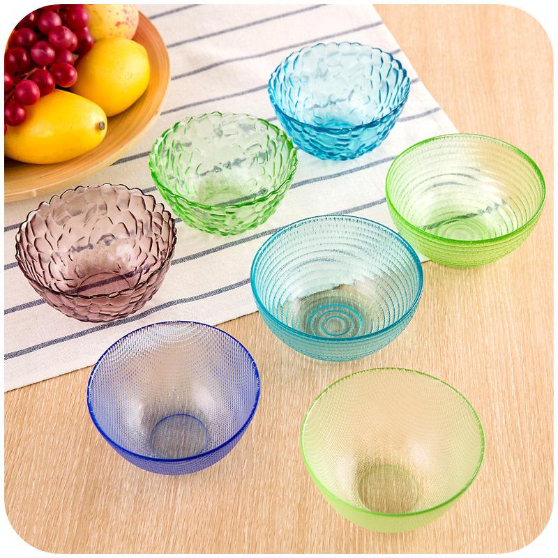 vanzlife diamond glass bowl of fruit salad rice salad bowl of soup bowl crystal bowl snack dishes(China (Mainland))