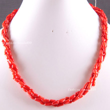 "Fashion Jewelry Natural Stone Red Sea Coral Beads Weave Necklace 19""  FE821(China (Mainland))"