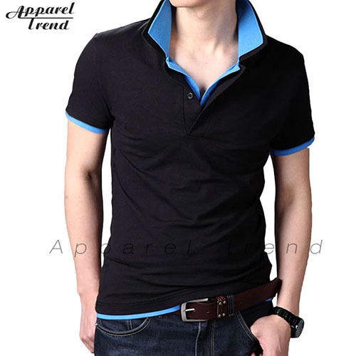 New 2014 cotton polo shirt for men sport clothes double for Men s athletic polo shirts