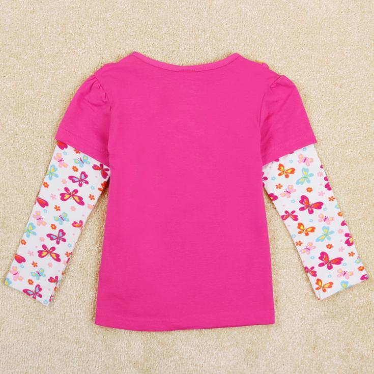 New 2014 fashion Girls Shirts Long Sleeve and Baby Girl t Shirt Nova Brand Kids Clothes for Children Clothing(China (Mainland))