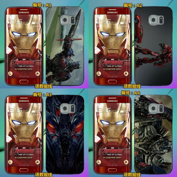 2015 Hot! Slim Cartoon Soft TPU Case for Samsung Galaxy S6 Edge G9250 silicone back cover phone Cases Gun Metal housing(China (Mainland))
