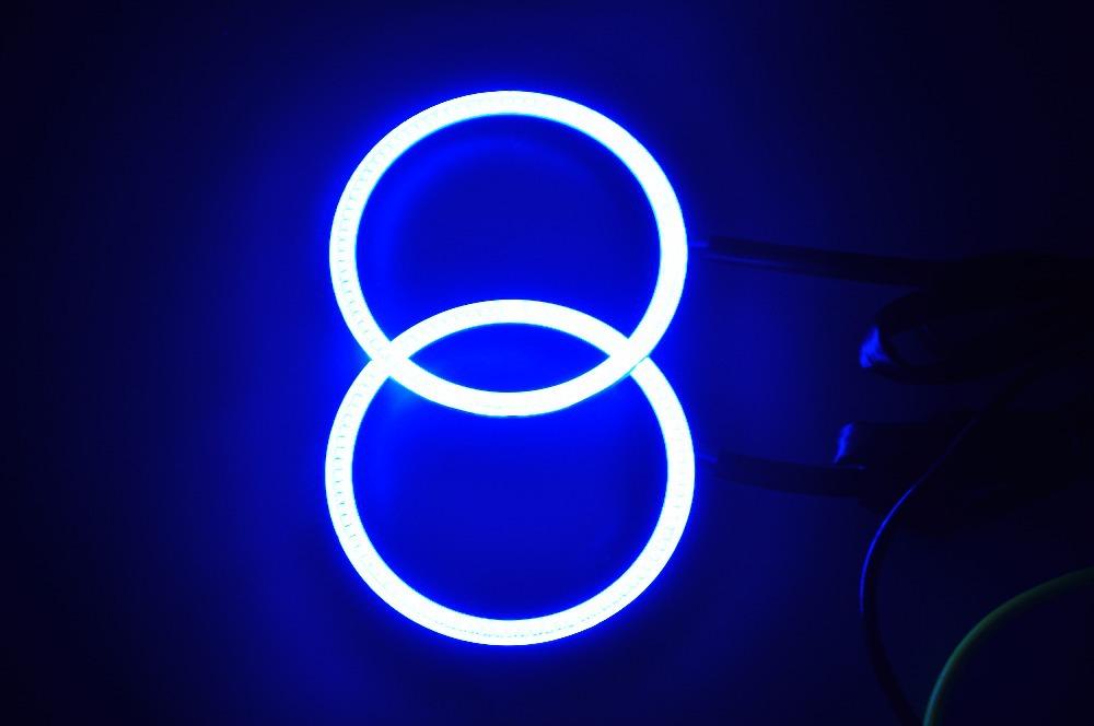 Hottest 1Set 2x100MM LED Multicolor RGB COB LED Angel Eye Halo Ring Flashing Strobing Smoothing Remote Control For Car Fog Light(China (Mainland))