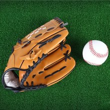 "PVC leather Brown Baseball Glove 10.5""/11.5""/12.5"" Softball Outdoor Team Sports Left Hand Baseball Practice Equipment(China (Mainland))"