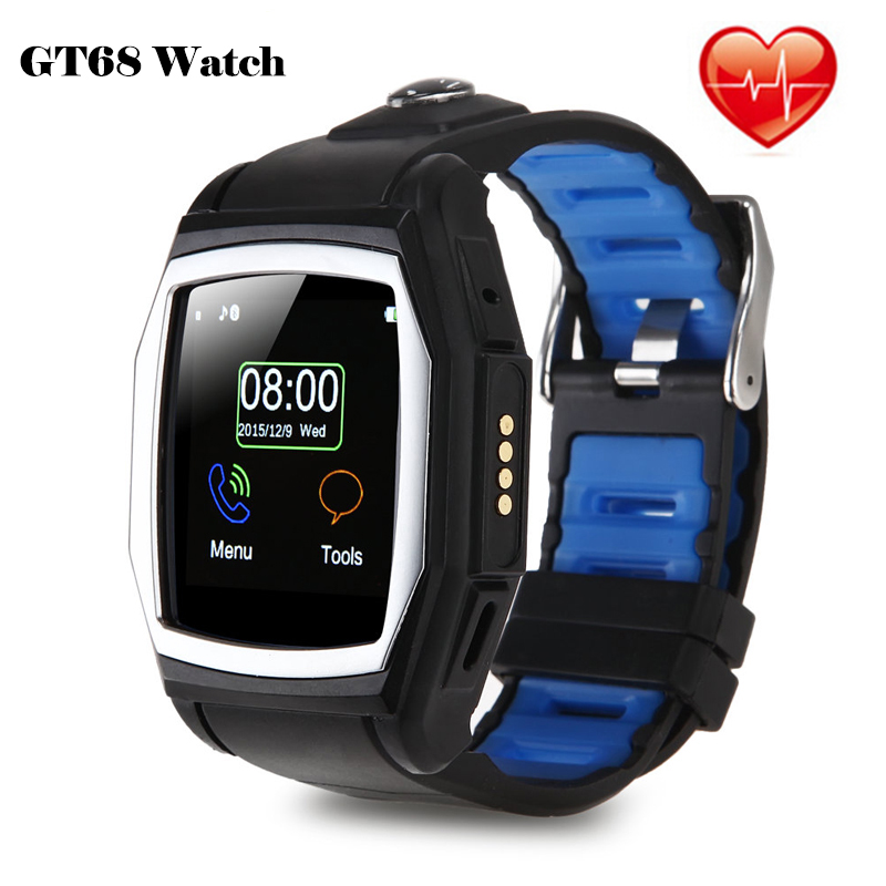 2016 Sport GT68 Smart Watch GPS Heart Rate IPS Screen Bluetooth Pedometer Fitness Tracker App Support SIM Card For IOS Android(China (Mainland))