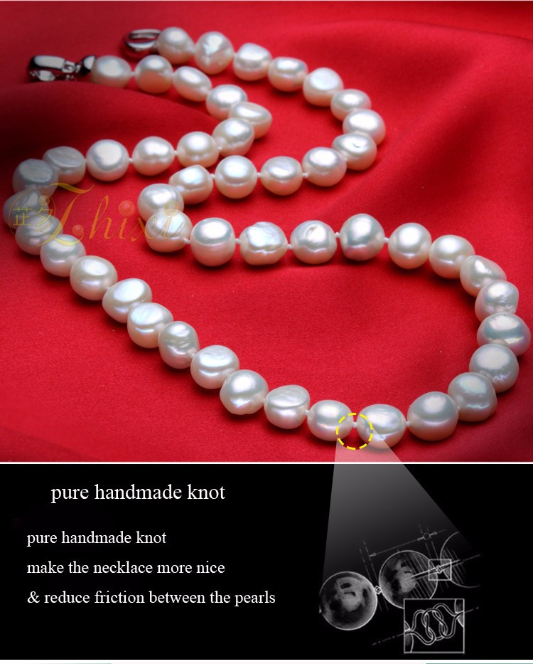 HTB10mRYKFXXXXalXXXXq6xXFXXXR - [ZHIXI] Pearl Jewelry Fine Freshwater Pearl Necklace Natural Baroque Pearl Necklace 9-10mm White Stone Choker For Women X1009