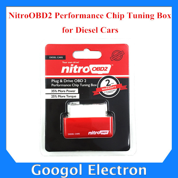 2015 New Plug and Drive NitroOBD2 Performance Chip Tuning Box for Diesel Cars with 2 Year Warranty Free Shipping(Hong Kong)