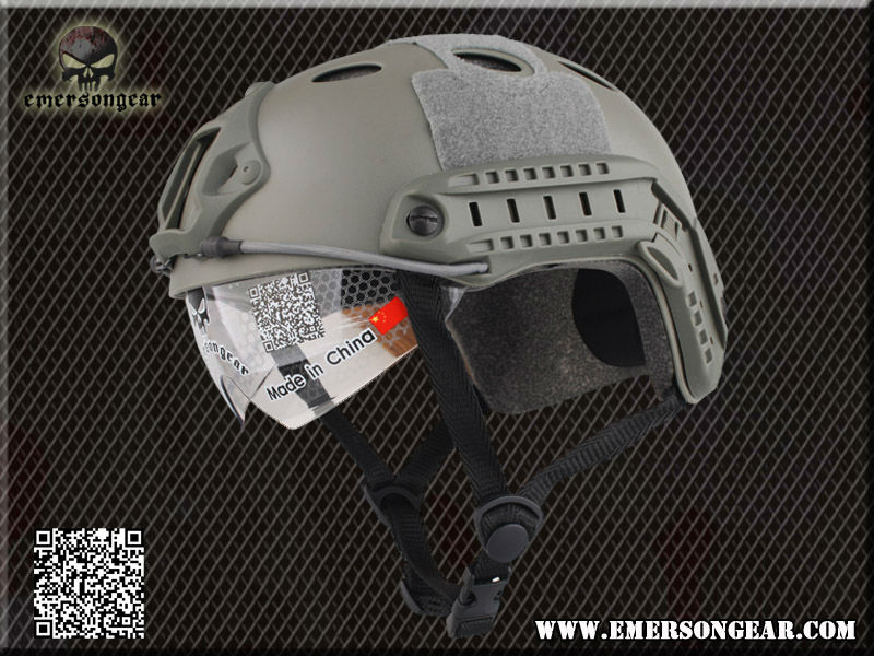 2013 NEW Emerson FAST Helmet with Protective Goggle PJ Type helmet Military airsoft helmet FG EM8819<br><br>Aliexpress