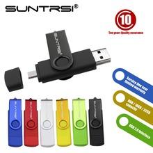 Suntrsi Special usb flash drive usb 2.0 smart phone tablet PC memory stick pen drive 64g pendrive 16g 32g usb stick free ship