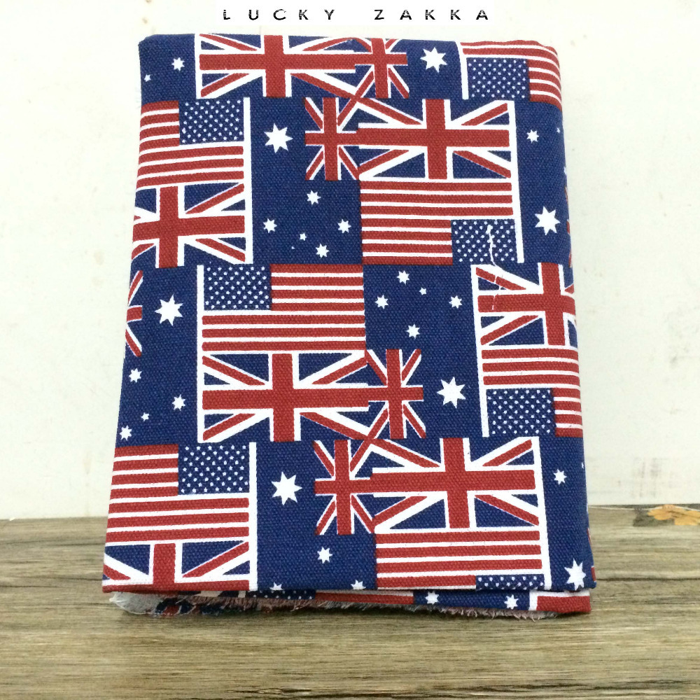 2014 NEW Upset polyester cotton UK USA flag Cartoon in Europe canvas DIY Sewing Fabric/Sofa cloth/tablecloth 100X145CM/SETS(China (Mainland))