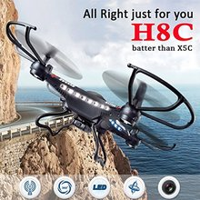 JJRC H8C 4CH 6-Axis Gyro Better than X5C-1 RC Quadcopter Drone with 2.0MP HD Camera RTF Flying Helicoptero De Controle Remoto a
