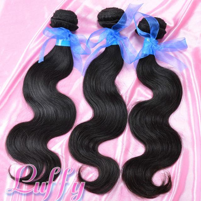 Luffy hair products peruvian body wave,100% human virgin hair 3pcs lot,Grade 5A,unprocessed hair