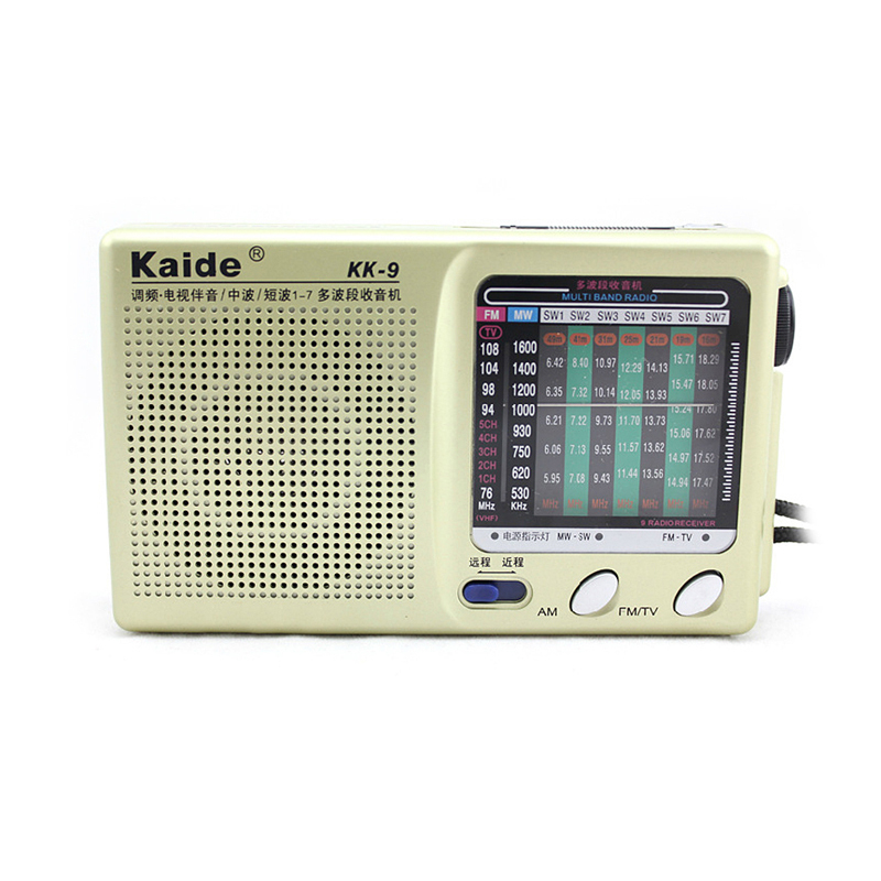 New Mini FM Radio Portable Pocket Broadcasting Compact Stereo LW SW MW DSP Receiver KK 9