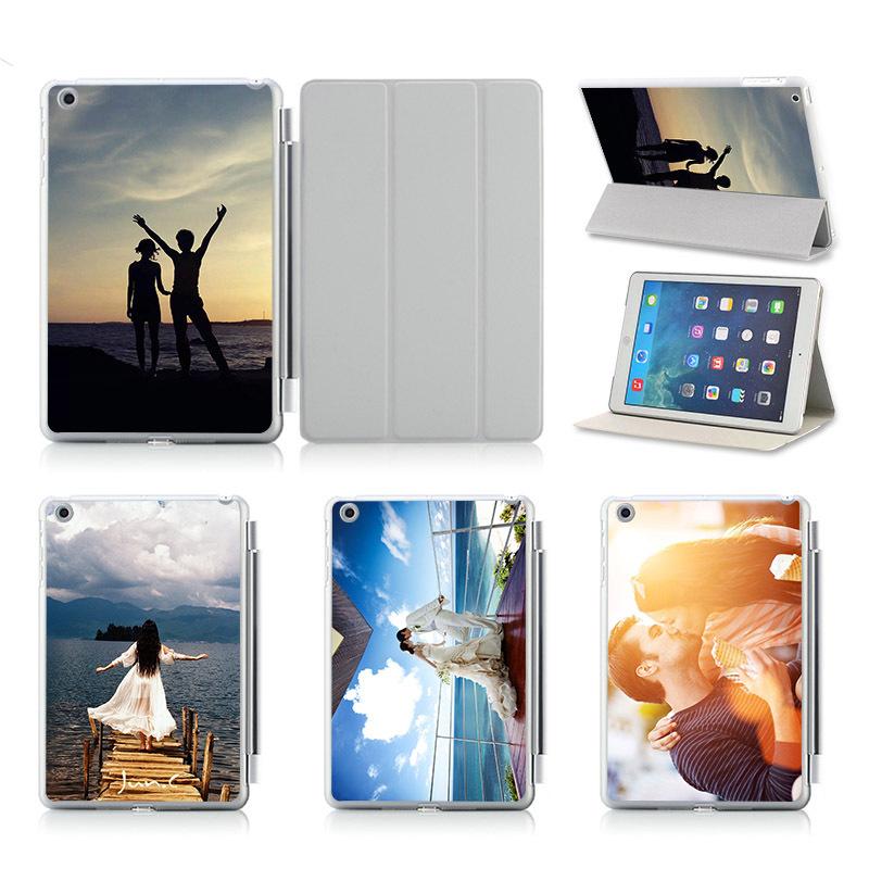 Customize Print Idea UV Print Flip Protective Shell/Skin For Apple IPad Air 2 Case Cover! Sweet Kiss Wedding photo(China (Mainland))