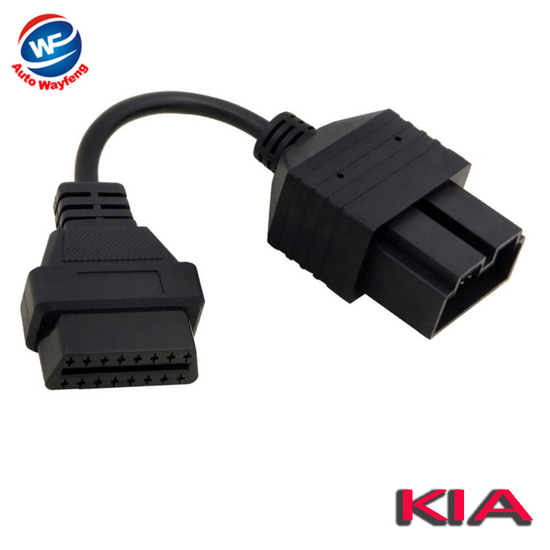 Auto Wayfeng WF/® Fit for KIA 20 Pin to 16 Pin OBD2 obdii OBD 2 II Female Diagnostic Tool Scanner Code Reader Adapter Car Connector Cable for KIA 20Pin