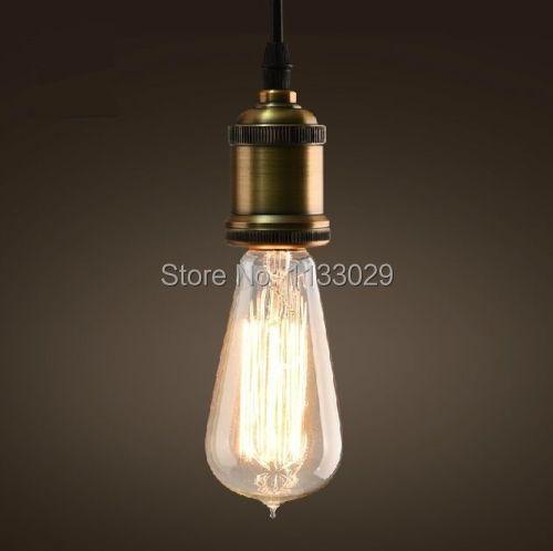 String Cord Base Pendant Light Lamp Fixture Ceiling Vintage Antique Filament ST6-in Pendant ...