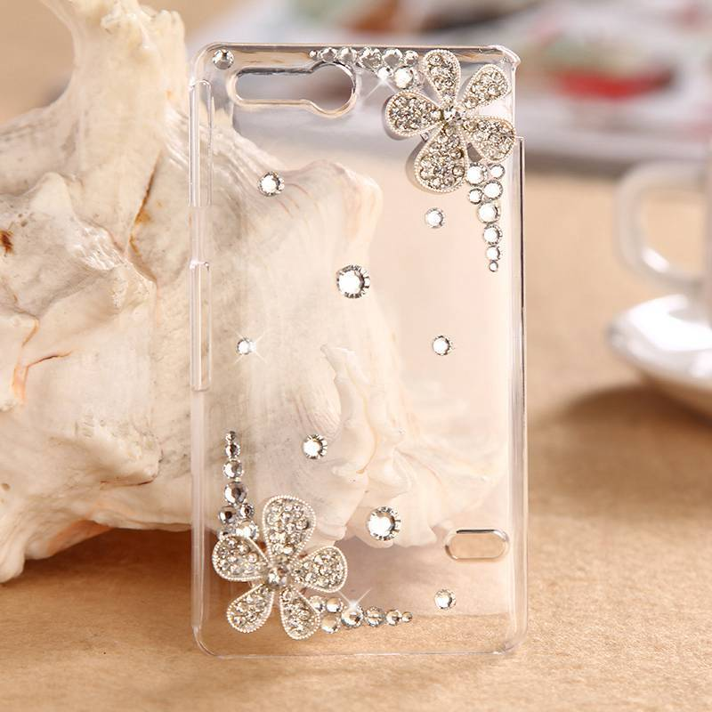 3D Bling Flowers Case For For Sony Xperia Go Case Sony ST27i cover Diamond Crystal Mobile Phone Cover Accessories for Sony ST27I(China (Mainland))
