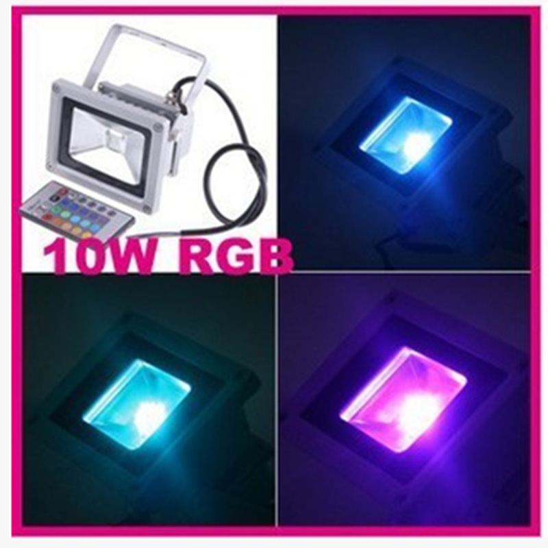 Wholesale Waterproof Outdoor 10W LED Flood projector Warm / Cool White / RGB LED lamp outdoor lighting(China (Mainland))