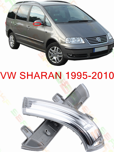 Car Styling Led Side Mirror With Indicator Turn Signals Lights For volkswagen VW SHARAN 1996-2010 1K0 949 101/102(China (Mainland))