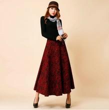 2015 High quality fashion autumn and winter expansion woolen skirt all-match casual a-line skirt high waist plus size skirt