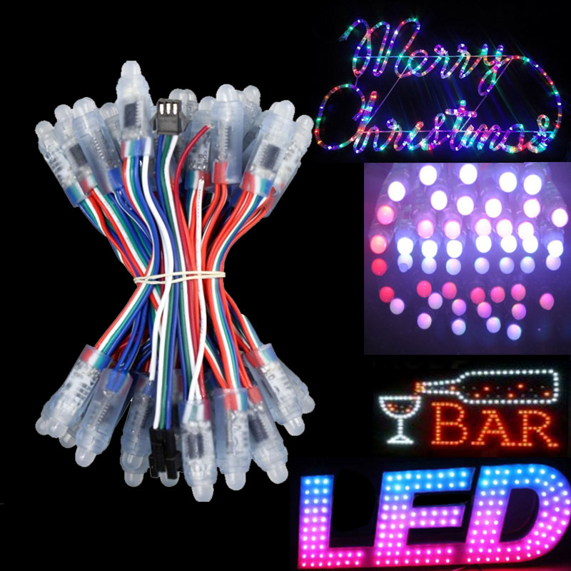 Entire String Christmas Lights Not Working : WS2811 led pixel module IP68 waterproof DC5V colorful RGB 50pcs flexible string LED strip ...