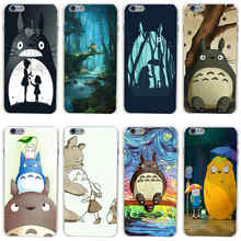 Buy 231GH Japan Anime Spirited Away Totoro Hard Transparent Painted Cover iphone 4 4s 5 5s 6 6s plus 7 7 Plus for $1.24 in AliExpress store