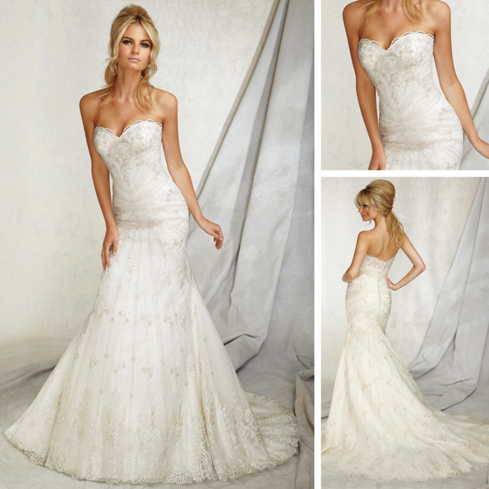 We146 2013 mermaid wedding dress patterns imperial western for Wedding dress patterns online