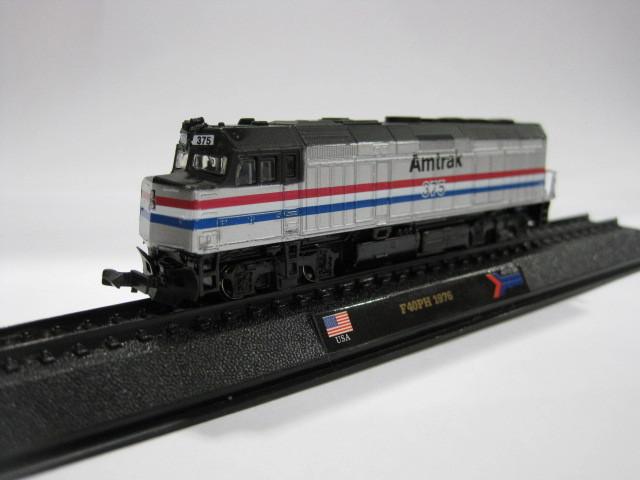 AMER COM 1/160 F40PH 1976 alloy American Amtrak train locomotive locomotive model(China (Mainland))