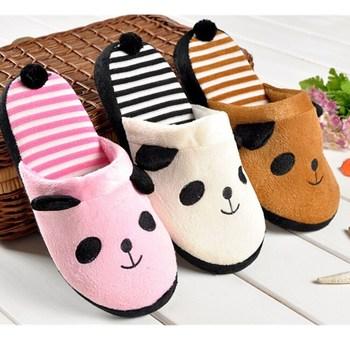 Wholesale Women's Autumn Winter Slipper Coral Velvet Warm Soft Anti-slip Home Slippers Lovely Animal Plush Shoes With Tail Shoe