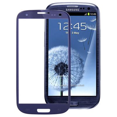 Hot Sale Replacement For Samsung Galaxy S3 i9300 Navy Blue Outer Screen Touch Glass Lens LCD Free Shipping(China (Mainland))
