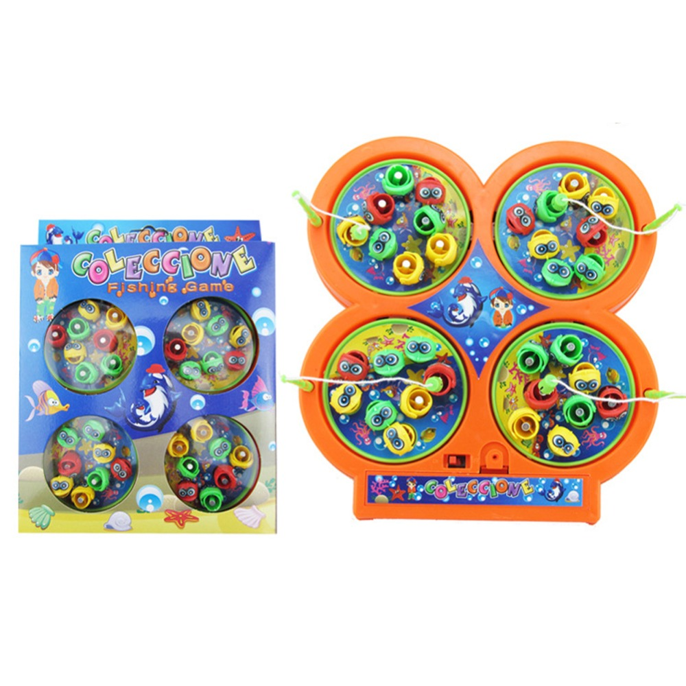 High Quality Kids Electric Rotating Magnetic Magnet Fishing Toy Kid Children Educational Learning Toy Children Baby Kid's Toy(China (Mainland))