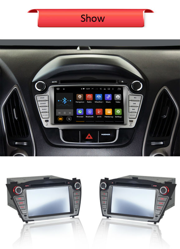 For Hyundai IX35 Tucson 2010-2013 Android 5.1.1 7″ HD1024*600 with WIFI/3G+Radio+BT+AUX+USB/SD+DVR+OBD2+External MIC+Mirror link