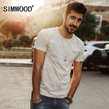 Buy SIMWOOD 2017 New Spring Summer T shirts Men Fashion curling short sleeved Slim stretch Vintage Tees TD1129 for $13.33 in AliExpress store