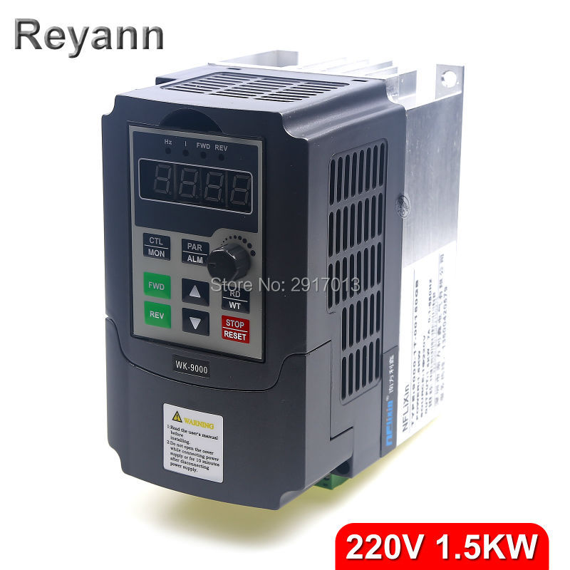 1500W 1.5KW 220V single phase input and 220v 3 phase output mini frequency inverter for mini ac motor drive, frequency converter(China (Mainland))