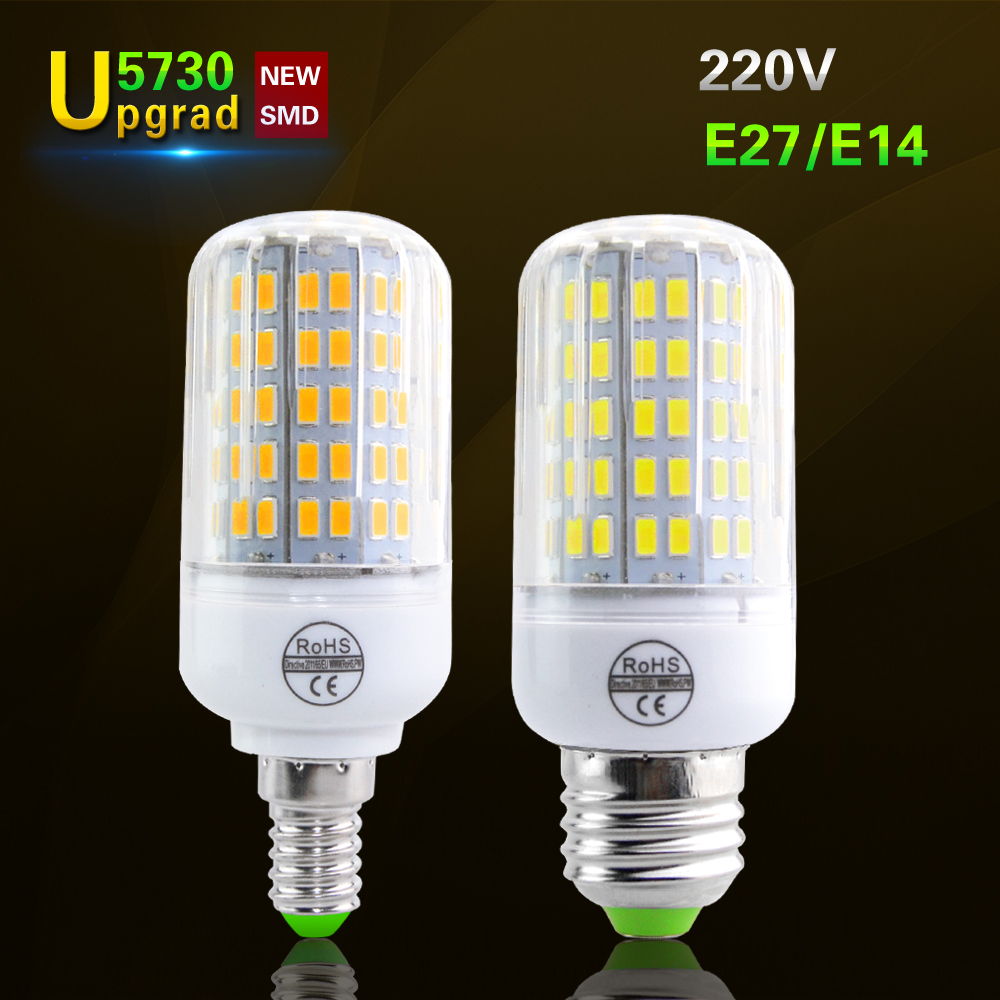 Lampada E27 E14 Corn Led Bulb 5730 LED Light 220V CFL 7W 11W 12W 15W 18W 20W Have CE ROHS lamp ...